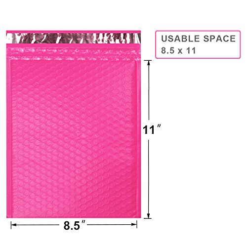 ucgou-2-85x12-waterproof-envelopes-pink-poly-bubble-mailers-padded-envelopes-self-seal-mailing-envelopes-pack-of-25-shipping-envelopes-bags