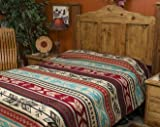 Mission Del Rey's Western Bedding Collection - Santo Domingo Bright King 114''x96''
