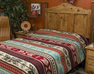 Mission Del Rey's Western Bedding Collection - Santo Domingo Bright King 114''x96'' by Mission Del Rey