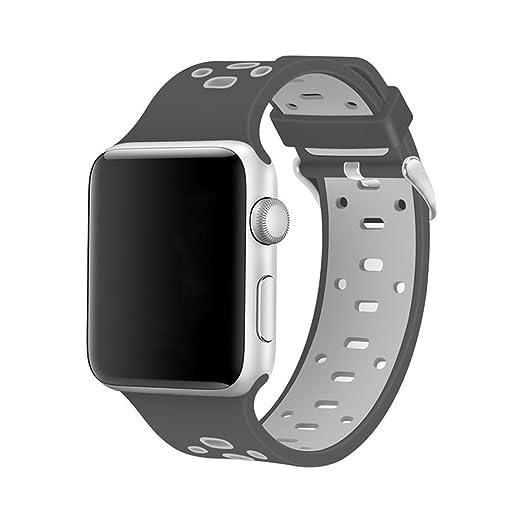 Moda Reloj Deportivoband ReplaceHombrest Para Apple Watch Correa de Reloj Suave Correa de Reloj de Silicona Para Hombres Mujeres Hebilla Para Apple Watch ...
