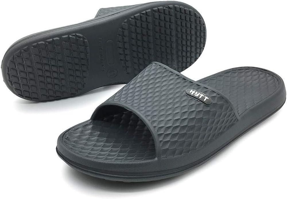 Hytt Shower Sandals Men Bathroom Slippers Non-Slip Indoor Home House Beach Shoes