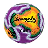 Champion Sports EXTD5 Extreme Stitched Soccer Ball, Size 5, Multi Tie Dye