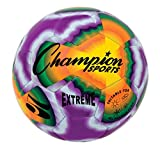 Champion Sports Extreme Stitched Soccer Ball, Size 5, Multi Tie Dye