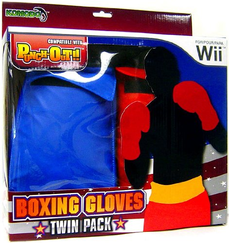(Komodo Nintendo Wii Boxing Gloves Twin Pack Red and Blue)