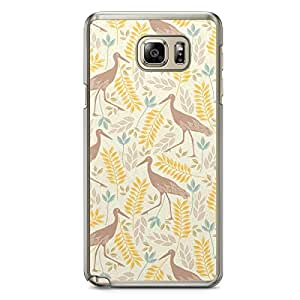 Flamingo Pattern Samsung Galaxy Note 5 Transparent Edge Case - Animal Patters Collection
