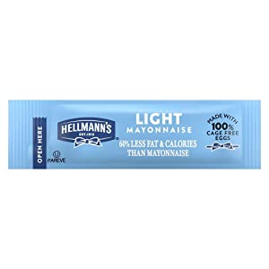Hellmann's Light Mayonnaise Stick Packets Easy Open, Made with 100% Cage Free Eggs, Gluten Free, 0.38 oz, Pack of 210