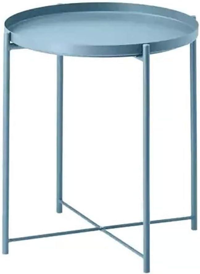 Laatste Korting Nordic Metal End Table, bijzettafel ronde salontafel opvouwbare bijzettafel bloem stand voor woonkamer, 44Ø × 52cm / 17,32 Ø × 20,47 inch Een mhO75mT