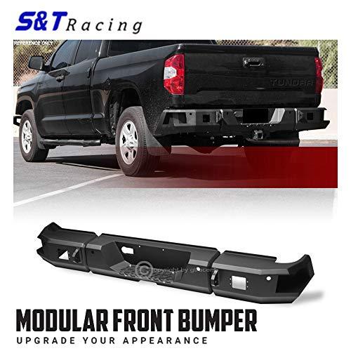 S&T Racing Black Modular Rear HD Steel Bumper Raptor Style Full Width 2014-2019 for Toyota Tundra