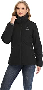Smarkey Women Heated Jacket With 1pcs 4400mAh Battery And Charger For