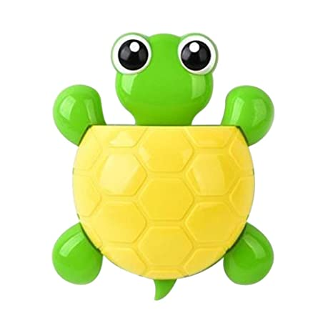 Erduo Cartoon Cute Turtle Wall Sucker Holder Cepillo de Dientes Hogar Baño Niños Ventosa Cepillo de