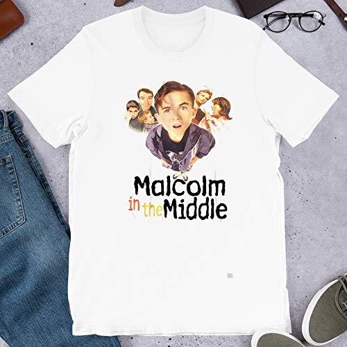 Malcolm in The Middle Fox Tv Series Dewey Cool Kids Never Die 90s Vintage Gift Men's Women's Unisex T-Shirt Sweatshirt (White-L) (The Mom From Malcolm In The Middle)