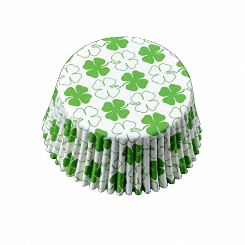 St. Patrick's Day Green Shamrock Baking Cups Cupcake Liners - for Muffins / Cupcakes / Cake Pops, 500 pcs