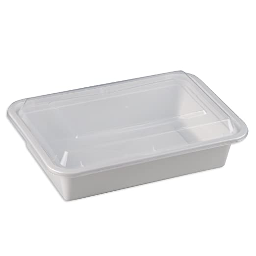 Safepro 38 oz blanco rectangular recipiente para microondas ...