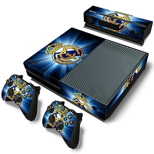 FriendlyTomato Xbox One Console and 2 Controllers Skin Set - Soccer Football Futbol - XboxOne Vinyl