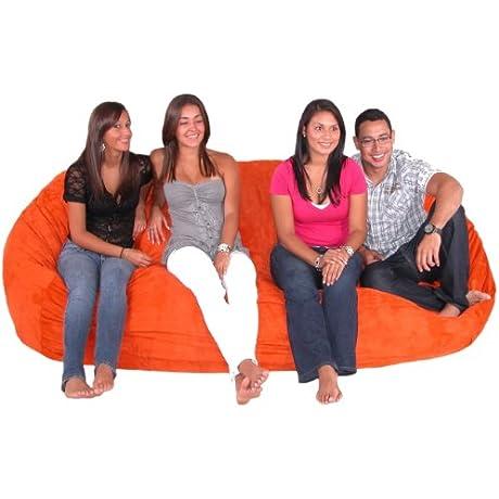 Cozy Sack 8 Feet Bean Bag Chair X Large Pumpkin