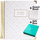 #5: Wedding Planner Gift Set for the Bride to Be: 9x11 Hardcover Wedding Planner and Organizer, Gift Box, Guest Book, Clip-in Bookmark, Planning Stickers, Business Card Holder, and Pocket Folders (Gold)