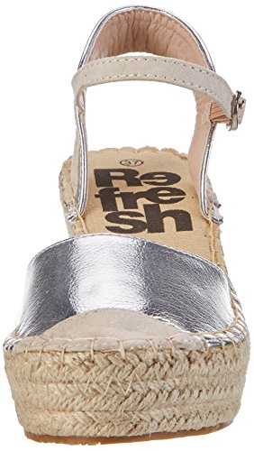 Refresh 63307, Alpargatas para Mujer Silber (Plata)