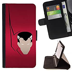 DEVIL CASE - FOR Apple Iphone 4 / 4S - Vampire Minimalist - Style PU Leather Case Wallet Flip Stand Flap Closure Cover