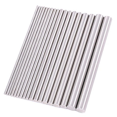 - Swpeet 18Pcs 3mm Diameter 100mm Length Stainless Steel Round Rod Lathe Bar Stock, Perfect for Various Shaft, Miniature Axle, Model Plane, Model Ship, Model Cars