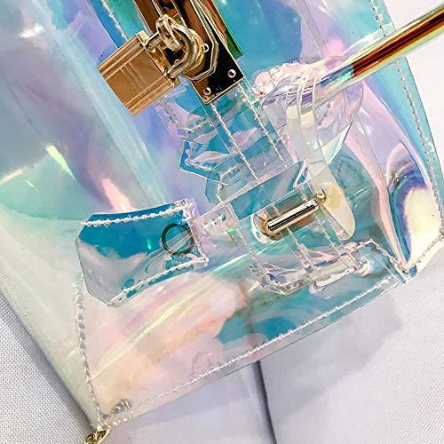 clocharde YT Seule épaule Femelle Sac 18 Sac à 25 à Transparent Y cm 12 de Laser bandoulièreSac Main HzqPWwgdx