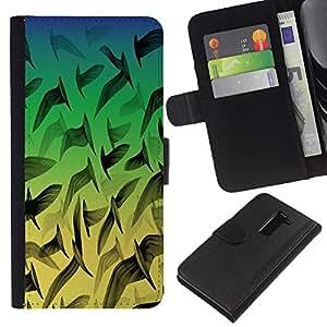 [Neutron-Star] Modelo colorido cuero de la carpeta del tirón del caso cubierta piel Holster Funda protecció Para LG G2 D800 [Neon Birds Pattern]