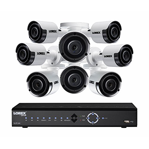 (Lorex LNK71082T85B 8-Channel 4K 2TB PoE NVR with 8 5-Megapixel Color Night Vision Indoor/Outdoor Security Cameras)