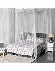 La Vogue Four Corner Post Bed Canopy Mosquito Net Full Queen King Size Bed Net