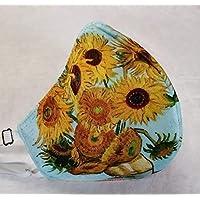 MEXI-K9 Cubrebocas lavable 4 capas artesanal Van Gogh