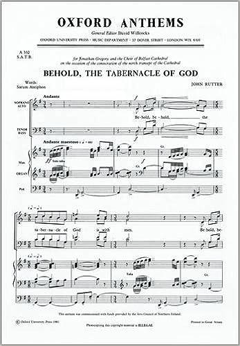 Ilmainen latauskirja ladattu Behold, the Tabernacle of God: Vocal Score in Finnish PDF 0193503735