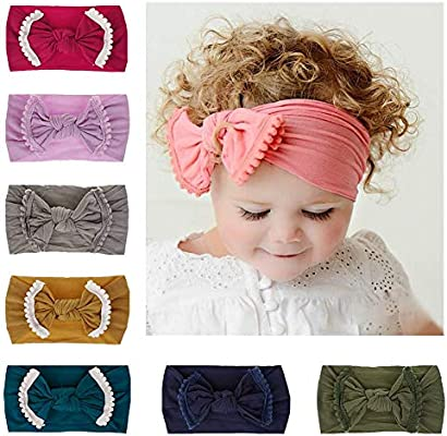 Lovinglove Baby Girls Headbands Knotted Head Bow for Newborn and Toddler 3f03bbc8a2b