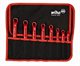 Wiha Tools 21096 15 Degree Angle Insulated Inch Deep Offset Ring Wrench - 8 Piece Set