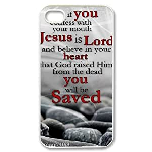 Bible Scriptures Case For iPhone 4/4s White Nuktoe569802