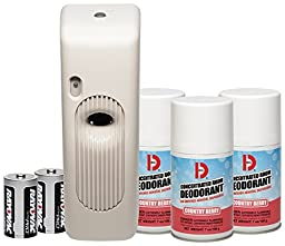Big D 876 Metered Aerosol Starter Kit, Country Berry Fragrance (Contains Dispenser, 2 Batteries, 3 Aerosol Cans)