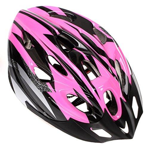 Sport Men Women Cycling Bicycle Adult Bike Handsome Carbon Helmet with Visor (Pink)