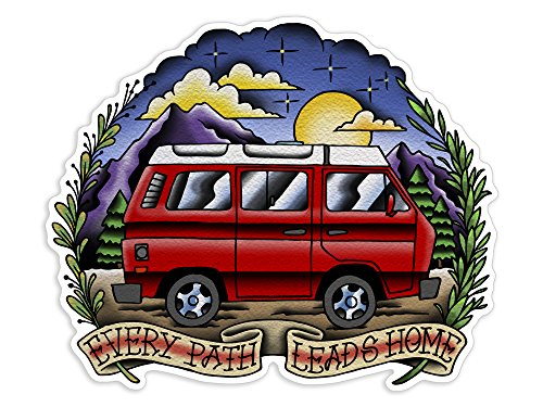 Camper Vw Vanagon - Every Path Leads Home - Sticker/Decal