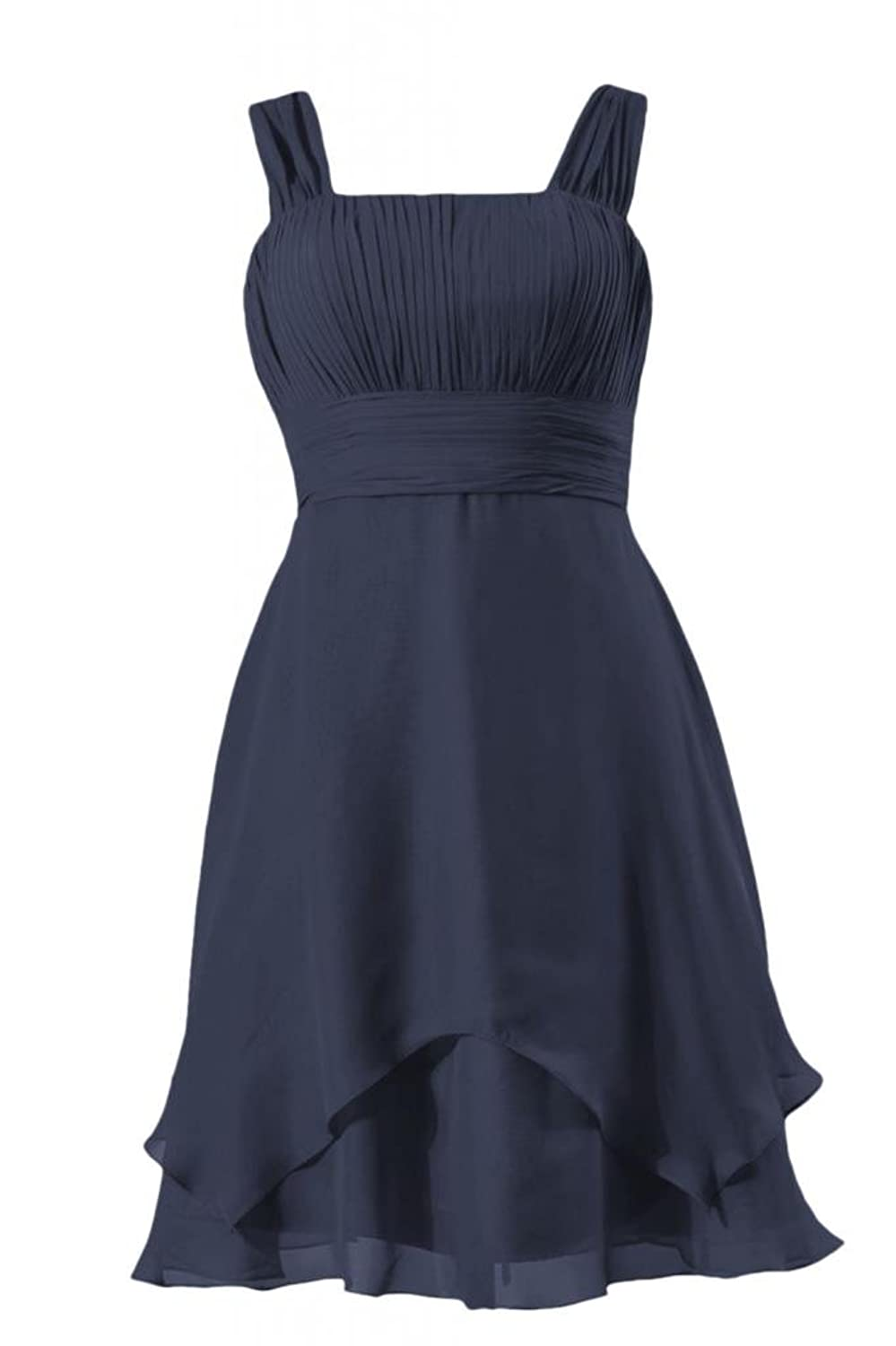 DaisyFormals Cocktail Dress Knee Length Bridesmaid Dress W/Flowing Layers(BM912)