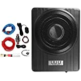 10 Inch 12V 600W Black Ultra-Thin Under Seat Car Active Subwoofer Bass Speaker