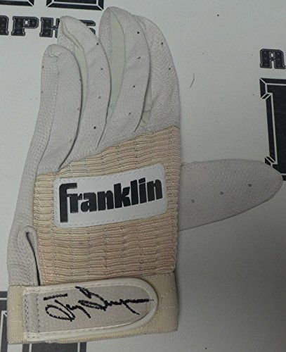 Tony Gwynn Autographed Glove (Tony Gwynn Signed 1980s Padres Baseball Game Issued Batting Glove COA L - PSA/DNA Certified - Autographed MLB Gloves)