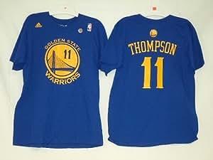 Golden State Warriors Klay Thompson Adidas Royal Blue T Shirt (Small)