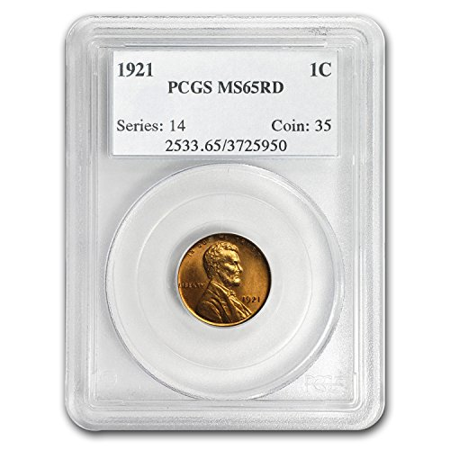 1921 Lincoln Cent MS-65 PCGS (Red) Cent MS-65 PCGS