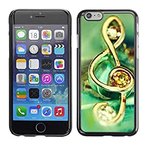 "Exotic-Star ( Music symbol jewelry ) Fundas Cover Cubre Hard Case Cover para 4.7"" iPhone 6"