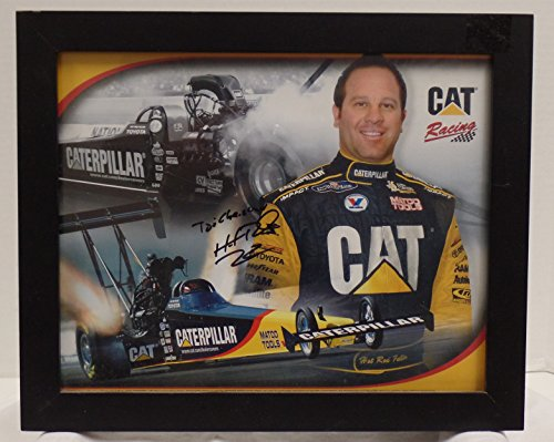 (HOT ROD FULLER - NHRA CATERIPILLAR RACING 2006 AUTOGRAPHED 8X10 PHOTO FRAME IN DARK WOOD FRAME. COA WESTERN COLORADO FIELD HOUSE. (FREE SHIPPING))