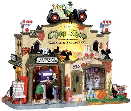 #25325 Lemax Chop Shop & Garage co - Building (Spirit Halloween Light And Sound Control)
