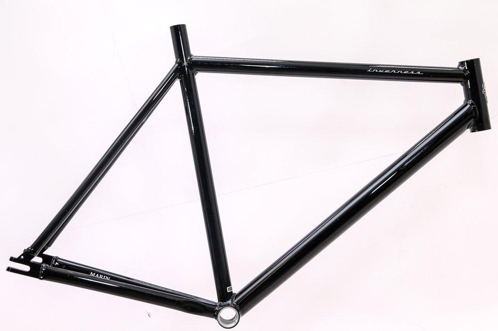 Marin Inverness 53cm Aluminum Single Speed Fixie Track Bike Frame Black NEW