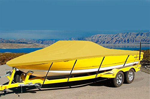 7oz Solution Dyed Polyester Material Custom Exact FIT Boat Cover Tige 22i Type R 2001 ()
