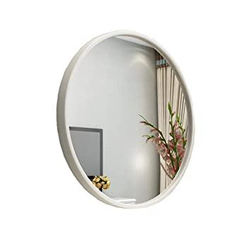Size 60cm Wall Mounted Round Mirror Bathroom Vanity Mirror Decorative Hanging Mirror White Wall Mounted Vanity Mirrors Bathroom Furniture Bathroom Mirrors