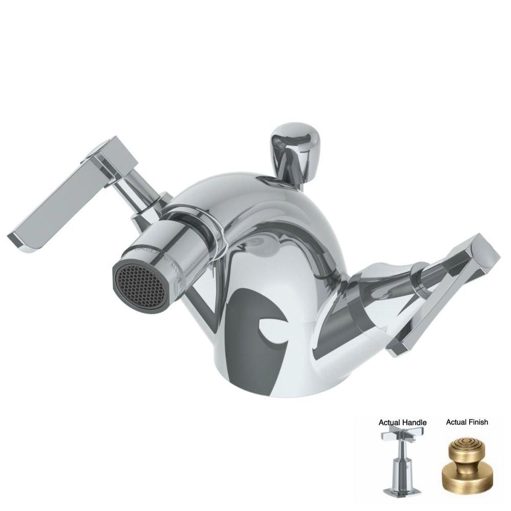 Watermark 115-4.1-MZ5-VB Vintage Brass H-Line Single Hole Bi chic