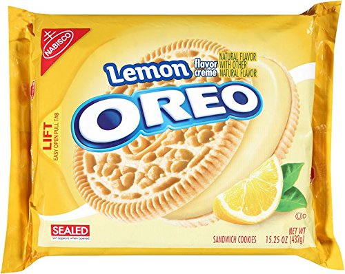 Oreo Lemon Creme Cookies, 15.25 Ounce -