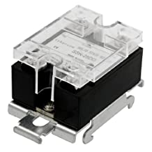 DC 12-220V Output Temperature Control Solid State Relay 25A SSR-25DD w DIN Rail Base
