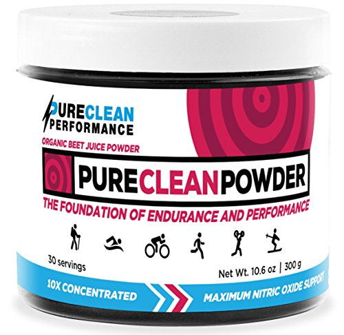 PureClean Powder - 100% USA Grown Organic Beet Juice Powder - No Fillers, Sweeteners, or Additives (Jar 300 Grams)